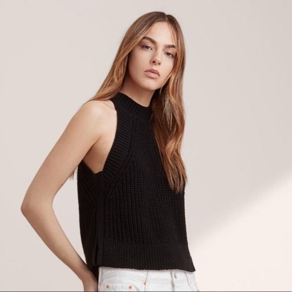 Le Fou Minette Black Sweater Tank Top
